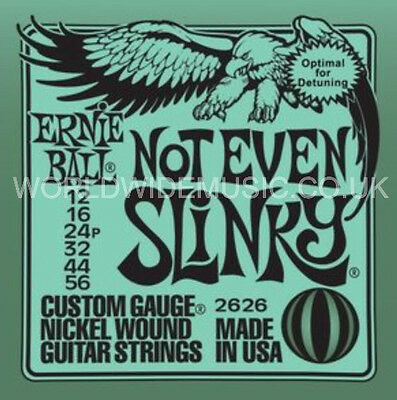 Ernie Ball 2628 NOT EVEN SLINKY Nickel Wound Guitar Strings - .012 - .056 • 7£