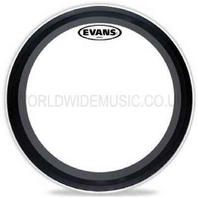 Evans EQ3 22  Clear Bass Drum 2 Ply Batter Head  -  BD22EMAD2 • 51£