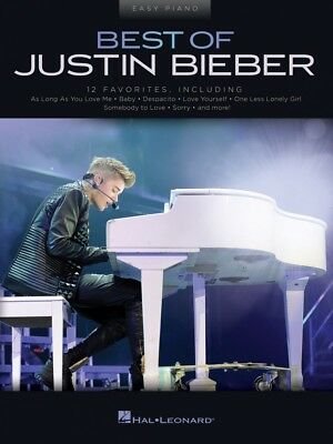 Best Of Justin Bieber Sheet Music Easy Piano Book NEW 000248635 • 8.87£