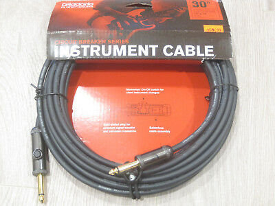 Planet Waves Instrument Cable 30' Ft Feet 9.14m 1/4  To 1/4  30ft PW-AG-30 • 28.40£