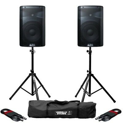 Alto TX210 Active 10  150W RMS DJ Disco PA Speaker With Stands & Cables • 274£