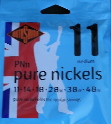Rotosound Pure Nickel PN11 Electric Guitar Strings 11-48 by Cadno Music