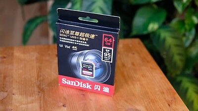 SanDisk Extreme Pro 64 GB SDXC Memory Card Up To 95 Mb/s Class 10 U3 V30 • 23£