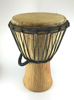 Handmade African Style Djembe Bongo Drum Traditionally Carved Fair Trade • 28.95£