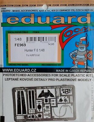 Eduard 1/48 FE969 Colour Zoom Etch For The Airfix Hawker Hunter F.6 Kit • 9.95£