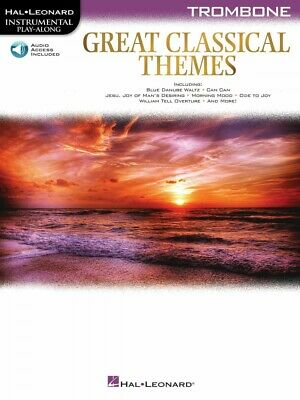 Great Classical Themes Trombone Instrumental Play-Along Book And Audio 000292735 • 8.33£