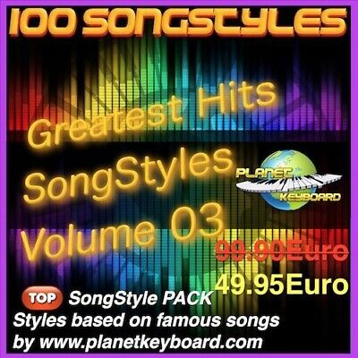 Yamaha PSR PSR-SX900 PSR-SX700 PSR-SX600 Styles GREATEST HITS SONGSTYLES VOL 03  • 53.29£