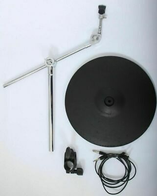Roland CY15R Electronic 3 Zone Ride Cymbal Trigger Pad + Boom Arm, Clamp & Leads • 220£