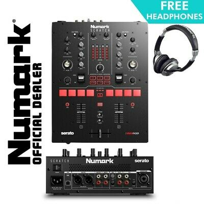 Numark Scratch 24-bit 2-Channel Portable Serato DJ Mixer With Software FX • 419£