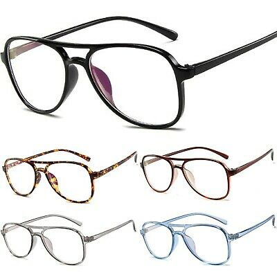 Pilot Classic Vintage Retro Clear Lens Plastic Glasses UV400 Anti-Blue Block • 4.95£