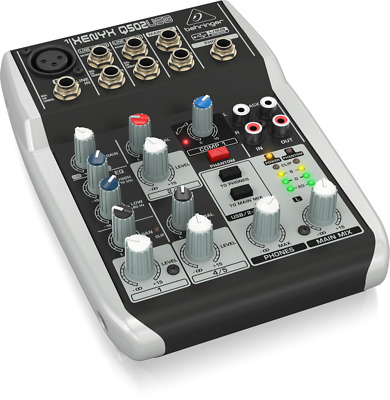 Behringer Q502USB Xenyx 5-Input 2-Bus Mixer With USB/Audio Interface • 92.89£
