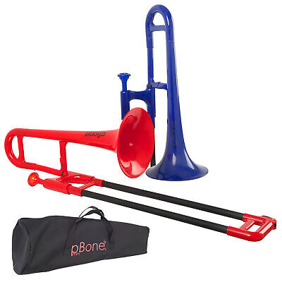 PBone Mini Plastic Trombone With Bag In Blue Or Red • 79£