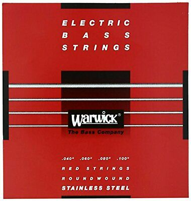 WARWICK Electric Bass Strings 4-string Set Stainless 42210 RED Med Light 040/100 • 20.91£