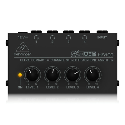 Behringer HA400 Micro Amp Headphone Amplifier • 22.95£