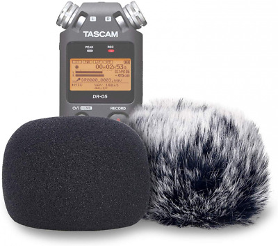 DR05 Windscreen Muff And Foam For Tascam DR-05 DR-05X Mic Recorders, DR05X Indoo • 21.57£