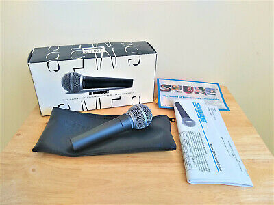 Shure SM58-LC Dynamic Vocal Microphone Mic + Cable/Lead • 79£