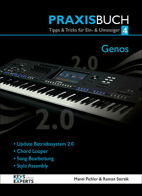 The Practice Book For Yamaha Genos Keyboard Band 4 V2.0 130 Pages Speech German • 46.08£