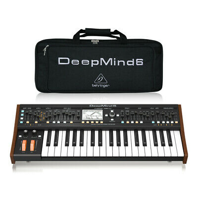 Behringer Deepmind 6 True Analog 6-Voice Polyphonic Synthesizer Studio Inc Bag • 559£