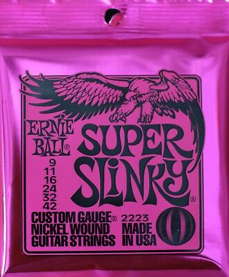 Ernie Ball Super Slinky Nickel Wound Sets, .009 - .042, Bundle Of 3 Sets • 21.99£