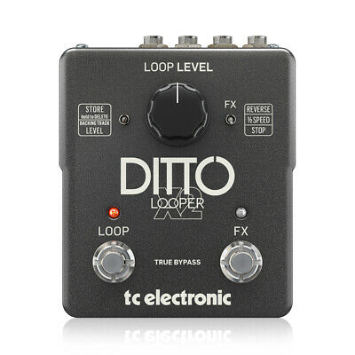 TC Helicon Ditto X2 Looper Pedal With Dedicated Stop Button & Loop Effects • 155£