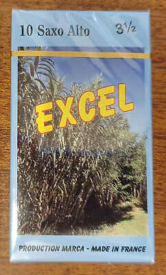 Marca Excel Reeds, Strength 3.5 for Alto Saxophone, Box of 10