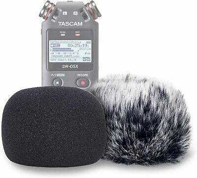 DR05 Windscreen Muff And Foam For Tascam DR-05 DR-05X Mic Recorders, DR05X Indoo • 20.50£