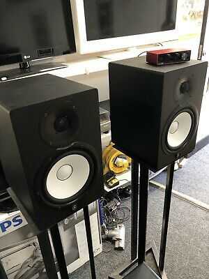 Yamaha HS8 Active Speakers, HS8S Subwoofer, Focusrite Scarlette Solo And Stands • 895£