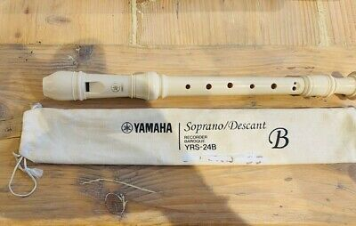 Yamaha 33cm Soprano/Descant White Recorder Baroque YRS-24B Without Bag • 6.50£