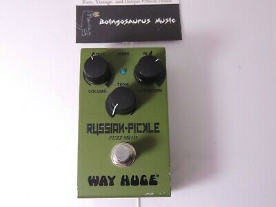 Way Huge Smalls Russian Pickle Fuzz MKIII Effects Pedal Free USA Shipping • 84.33£