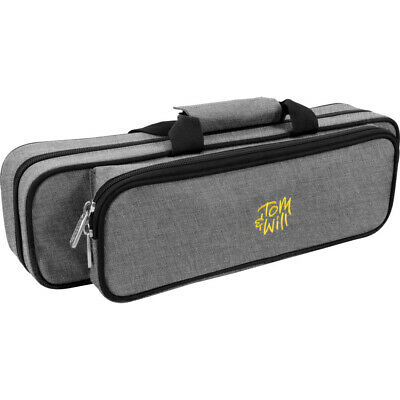 Tom & Will 36FG-315 Flute Gig Case, Grey and Red