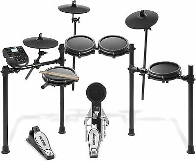 Alesis Drums Nitro Mesh Kit - Eight Piece Mesh Electric Drum Set With 385 • 348.99£