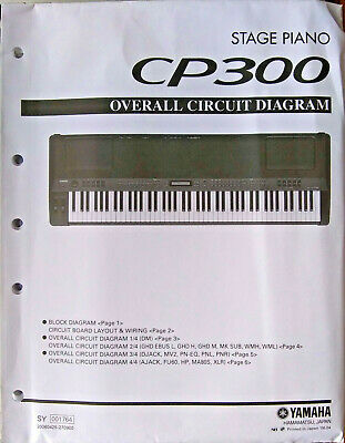 Yamaha CP300 Digital Stage Piano Original Overall Circuit Diagram Sheets & Cover • 31.48£
