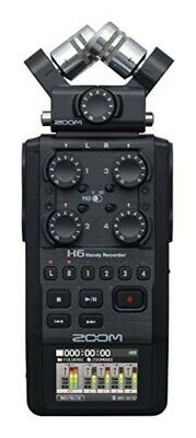 ZOOM Linear PCM/IC Microphone Capsule Interchangeable Handy Recorder H6 BLACK • 418.44£