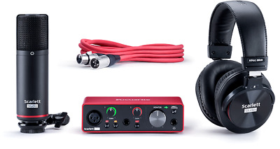 Focusrite Scarlett Solo Studio 3rd Gen USB Audio Interface Condenser Microphone • 195£