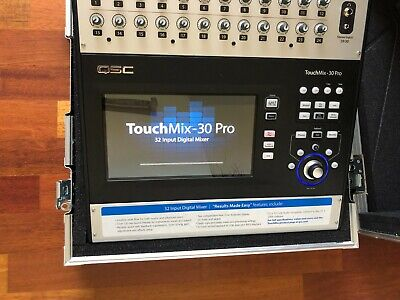 QSC TouchMix 30 Pro Digital Mixer + Flight Case - Hardly Used, Mint Condition !! • 1,600£