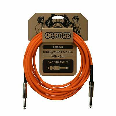 Orange Crush 20ft Instrument Cable, Straight To Straight • 15.99£