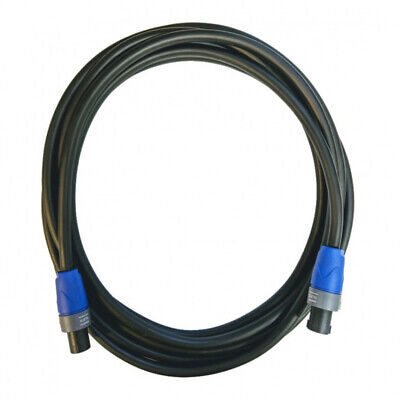 5M Speakon Lead - 2x4mm Speaker Cable With Neutrik NL2FX • 18.99£