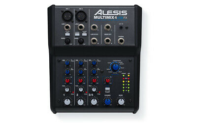 Alesis Multimix 4 USB FX Effects Mixer 4-Channel Mixing Desk With USB Interface • 84.95£
