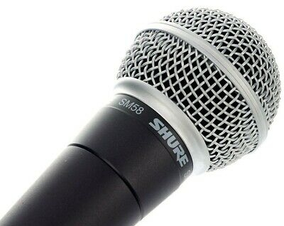 SHURE SM58-LC Professional Vocal Microphone Handheld SM58 Mic PA Singer Vocalist • 175£