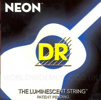 DR NEON NWA-11 Neon White Luminescent  Fluorescent Acoustic Guitar strings 11-50