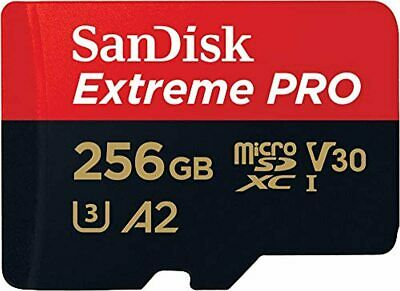 SanDisk Extreme Pro 256 GB MicroSDXC Memory Card + SD Adapter With A2 App Perfor • 119.21£