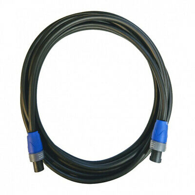 10M Speakon Lead - 2x4mm Speaker Cable With Neutrik NL2FX • 26.99£