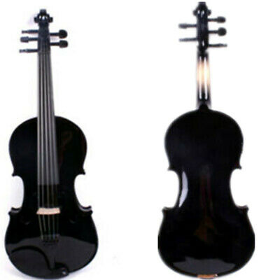 Black Colors 5 Strings 4/4 Electric Violin +Acoustic Violin,free Case Bow Rosin • 70.05£