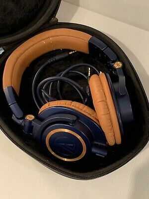 Audio-Technica ATH-M50X Wired Headphones -LIMITED EDITION - Blue/Brown • 51£