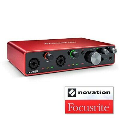 Focusrite Audio Interface 8 In/6 Out 24bit/192kHz Scarlett 8i6 (3rd Gen) • 320.05£