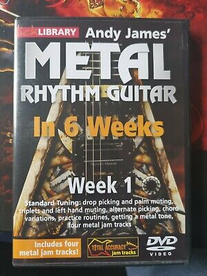 Lick Library Andy James' Metal Rhythm Guitar In 6 Weeks - Week 1  Guitar  DVD • 7£