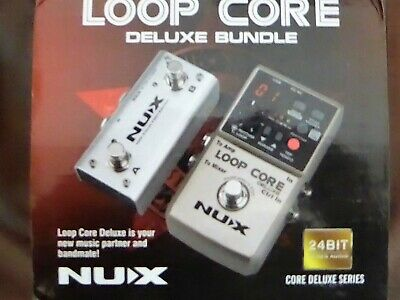 NUX Loop Core Deluxe 24-bit Looper Pedal Bundle • 95£