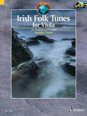 Irish Folk Tunes For Viola 60 Traditional Pieces String Book And Audio 049044675 • 12.99£