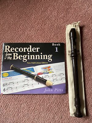 """YAMAHA Soprano/Descant Recorder YRS-24B With """" Recorder From The Beginning"""" Book • 5£"""