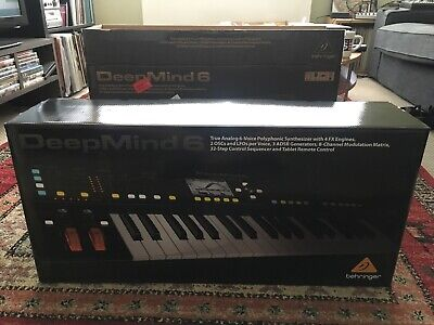 BEHRINGER Synthesiser DeepMind 6  Polyphonic Analogue Synth Fully Boxed • 479£